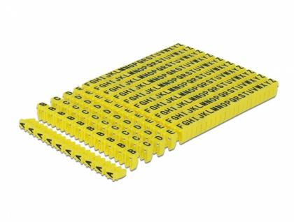 Kabelmarker Clips A-Z gelb 260-teilig, Delock® [18303]