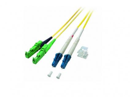 kabelmeister® Patchkabel LWL Duplex OS2 (Singlemode, 9/125) E2000®-APC/LC, 1m