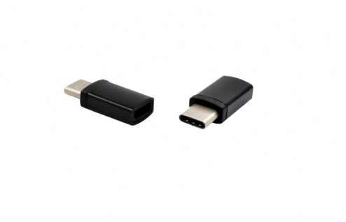 Adapter C-Type Stecker auf Micro B-Buchse, schwarz, Exsys® [EX-47992]