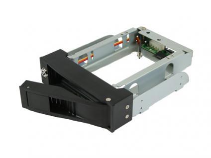 Metall-Wechselrahmen für SATA HDD, schwarz mit Anti-Vibrations-System, abschließbar