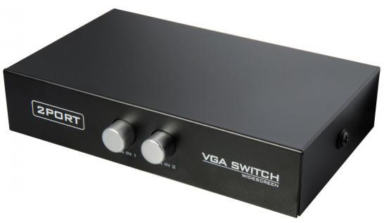 VGA Monitor-Umschalter 2-fach, manuell, Good Connections®