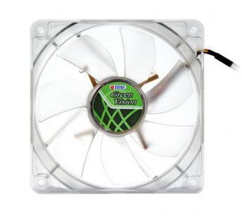 Lüfter, Green Vision, 140x140x25mm, transparent, Titan® [TFD-14025GT12Z/V2(RB)]