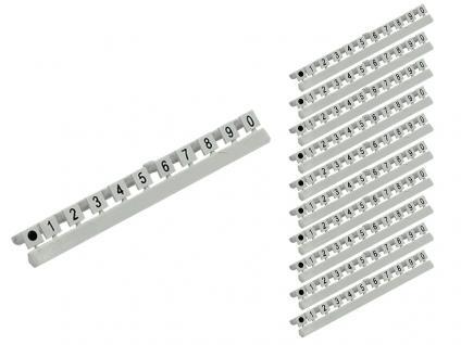 kabelmeister® Nummer Markierungen für LC LWL Kabel, Markierung 0 bis 9, 10er Set