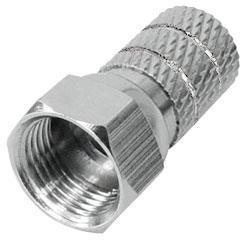 F-Stecker, Twist-On, für Kabel-Ø: 5, 2 mm, vernickelt