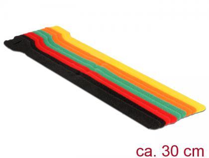 Klett-Kabelbinder L 300mm x B 12mm, 10 Stück, farbig, Delock® [18703]
