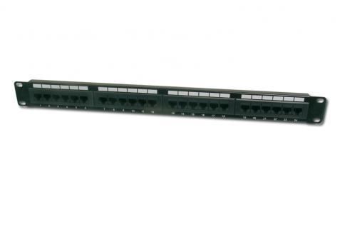 Digitus® 19' Cat. 6 Patchpanel 24-fach, ungeschirmt, schwarz