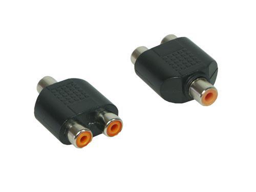 kabelmeister® Audio Adapter 2 x Cinch Buchse / 1 x Cinch Buchse