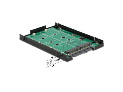Konverter SATA 22 Pin an 2 x M.2 NGFF mit RAID, 2, 5', Delock® [62590]