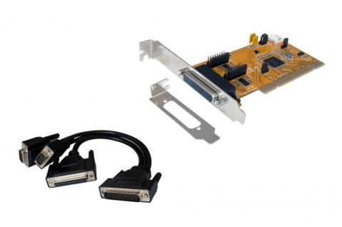 PCI 2S Seriell RS-232/1P Parallel Multi I/O inkl. Low Profil Bügel (SystemBase), Exsys® [EX-43360]