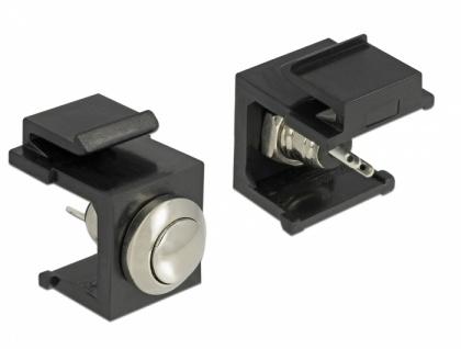 Keystone Drucktaster schwarz, Delock® [86402]