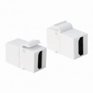 Keystone Modular Verbinder HDMI Buchse an HDMI Buchse, weiß, LogiLink® [NK0014]