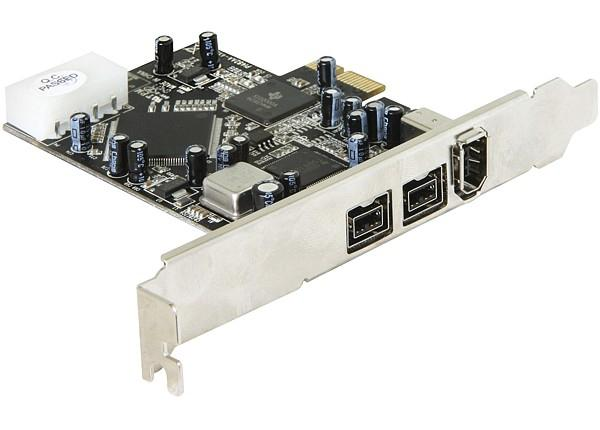 PCI Express Karte, 1x extern FireWire A + 2x extern FireWire B, Delock® [89153]
