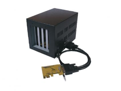 PCI-Express-Bus zu 4 x PCI-Slot Expansion-Box, Exsys® [EX-1010]