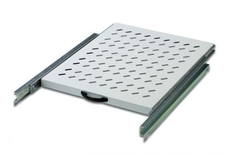 Ausziehbarer Fachboden 1 HE für 19' Netzwerkschränke 465 x 525mm, Digitus® [DN-19 TRAY-2-800]