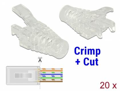 Knickschutz für RJ45 Crimp+Cut Stecker 20 Stück , Delock® [86455]
