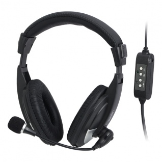 Headset, High Quality, mit USB Anschluss, stereo, Logilink® [HS0019]