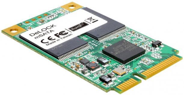 Flash Modul MiniPCIe Speicher mSATA 6 Gb/s WT, 128GB, -40____deg; C ~ +85____deg; C, Delock® [54709]