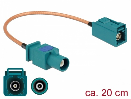 Antennenkabel FAKRA Z Stecker an FAKRA Z Buchse RG-316 20 cm, Delock® [89660]