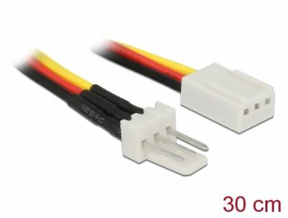 Lüfter Stromkabel 3-Pin Stecker an 3-Pin Buchse, 0, 3m, Delock® [85753]