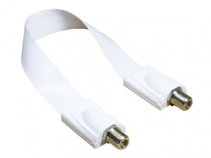 Kabelmeister® SAT Fensterdurchführung High-Quality, weiß, Gesamtlänge inkl. Stecker 53, 5cm, flexible Länge 44, 5cm