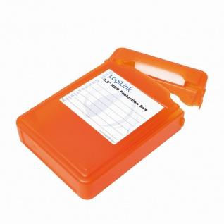 Festplatten Schutz-Box für 3, 5' HDDs, Orange, LogiLink® [UA0133O]