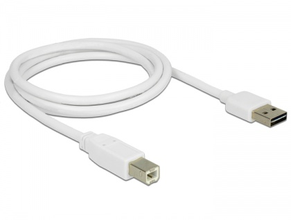 Kabel EASY-USB 2.0 Typ-A Stecker an USB 2.0 Typ-B Stecker, weiß, 1 m, Delock® [83686]
