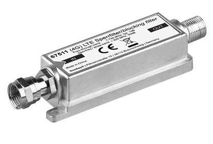 Sperrfilter für DVB-T, LTE, F-Stecker/F-Buchse