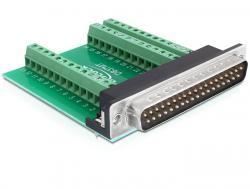 Adapter, Sub-D 37pin Stecker an Terminalblock 39pin, Delock® [65320]
