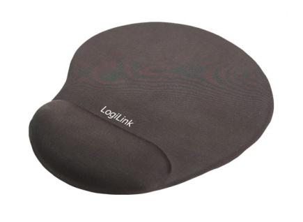 LogiLink® Mousepad mit Silikon Gel Handauflage, schwarz [ID0027]