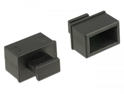 Staubschutz für SFP Schacht, mit Griff, 10 Stück, schwarz, Delock® [64021]