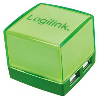 LogiLink® USB 2.0 HUB, Cube, 4-Port, Beleuchtet, grün [UA0121]