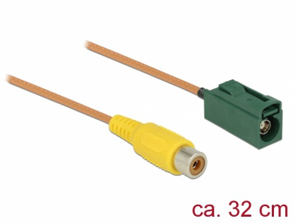 Kabel FAKRA E Buchse an Cinch Buchse RG-179 32 cm, Delock® [89653]