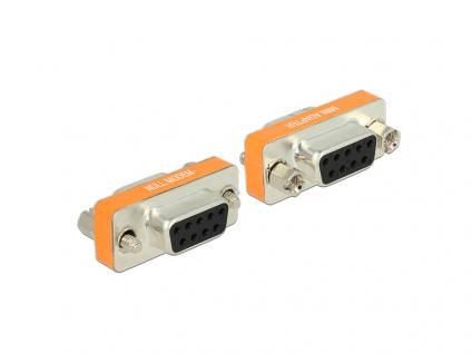 Adapter Nullmodem Sub-D 9 Pin Buchse an Buchse Gender Changer, Delock® [65570]