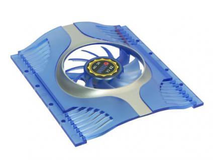 Titan® Festplattenlüfter TTC-HD12, blau transparent