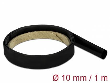 Schrumpfschlauch 1 m x 10 mm schwarz, Delock® [18974]