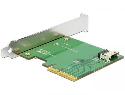PCI Express x4 Karte an 1x intern SFF-8654 4i NVMe - Low Profile Formfaktor, Delock® [89585]