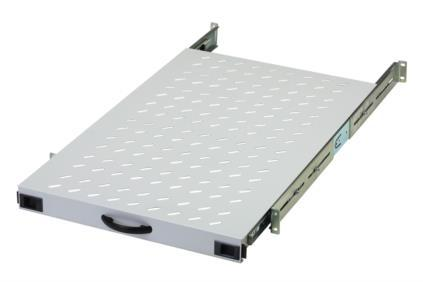 Ausziehbarer Fachboden 1 HE für 19' Netzwerkschränke - 65kg, 483 x 720mm, Digitus® [DN-19 TRAY-2-1000]