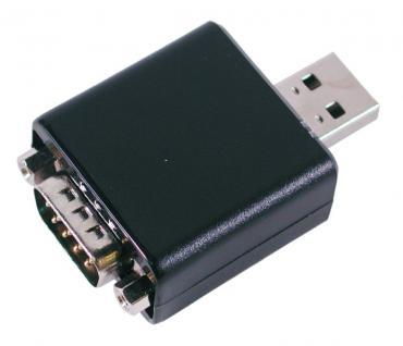 USB zu 1x Seriell RS-232 Adapter Dongle mit 9 Pin Stecker, zwei LED für RXD und TXD, Exsys® [EX-1304]