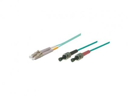 kabelmeister® Patchkabel LWL Duplex OM3 (Multimode, 50/125) ST/LC, 1m