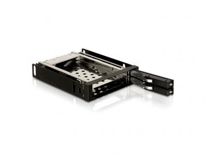 Wechselrahmen 3, 5' für 2 x 2.5ö SATA HDD, Delock® [47189]