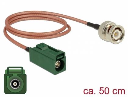 Antennenkabel FAKRA E Buchse an BNC Stecker RG-316 0, 5m, Delock® [89681]