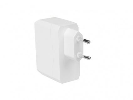 USB Netzteil Universal Adapter für die Steckdose, 2x USB-Port, weiß, LogiLink® [PA0094]