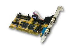 ISA 2 x Seriell-Karte RS-232, 16-Bit (COM 1-12 / IRQ 3-15) mit 2 x FIFO 16C550, Exsys® [EX-40032]