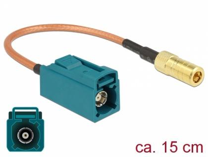 Antennenkabel FAKRA Z Buchse an SMB Stecker RG-316 15 cm, Delock® [89671]