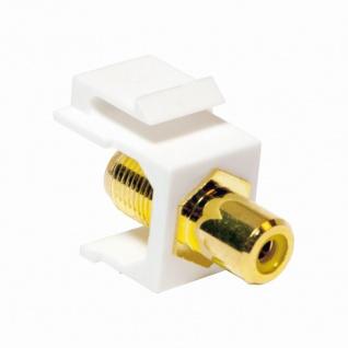 Keystone Verbinder Cinch Buchse an F Buchse - gelb, LogiLink® [NK0026]