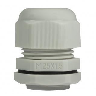 Kabelverschraubung M25, 10 Stück, IP68, lichtgrau, LogiLink® [CG0M25G]
