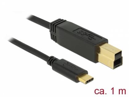 USB 3.1 Gen 2 (10 Gbps) Kabel Type-C zu Typ-B 1 m, Delock® [83675]