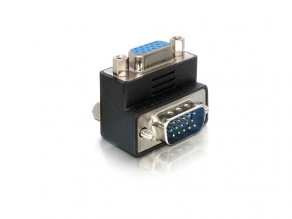Adapter VGA Stecker an VGA Buchse 90____deg; gewinkelt, Delock® [65171]