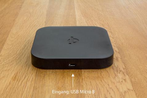 Wireless Smartphone Ladegerät 2-port, 1x wireless (1A), 2x USB (1, 5A), Qi Standard, schwarz, Good Connections®