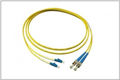 kabelmeister® Patchkabel LWL Duplex OS1 (Singlemode, 9/125) LC/ST, 2m
